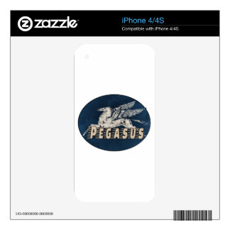 Vintage Pegasus Design Skin For iPhone 4