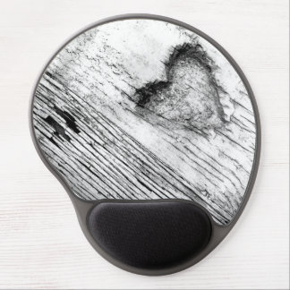 vintage pencil drawied Heart  Gel Mousepad