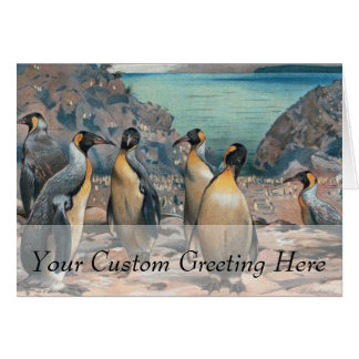 Vintage Penguin Herd Card