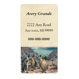 Vintage Penguin Herd Label