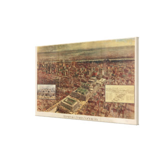 Vintage Penn Station and Surrounding NYC Map Canvas Print