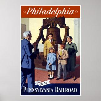 Vintage Pennsylvania Philadelphia Liberty Bell Poster