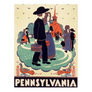 Vintage Pennsylvania Schoolhouse Postcard