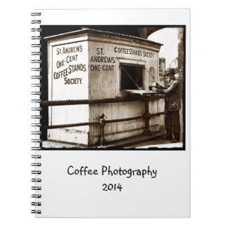 Vintage Penny Cup of Coffee Stand Notebook