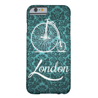 Vintage Penny-Farthing Bicycle in London Pillow Barely There iPhone 6 Case