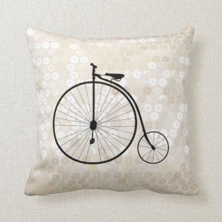 Vintage Penny-Farthing Bicycle Pillow