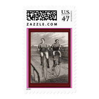 Vintage Penny Farthing Race Postage