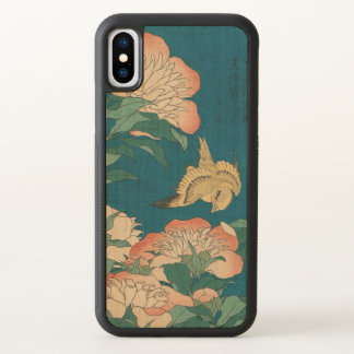 Vintage Peonies and Canary Hokusai GalleryHD Art iPhone X Case