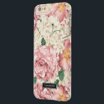 "Vintage Peonies and Hydrangeas iPhone 6 Plus Case<br><div class=""desc"">Elegant iPhone case featuring blush pink roses and peonies with ivory hydrangeas. This design is available in variety products. Click below for other designs.</div>"