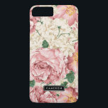 "Vintage Peonies and Hydrangeas iPhone 7 Plus Case<br><div class=""desc"">Elegant iPhone case featuring blush pink roses and peonies with ivory hydrangeas. This design is available in variety products. Click below for other designs.</div>"