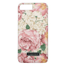 Vintage Peonies and Hydrangeas iPhone 7 Plus Case