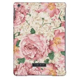 Vintage Peonies and Hydrangeas Pattern iPad Air Cases