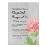 Vintage Peonies Bridal Shower Invitations Personalized Announcements