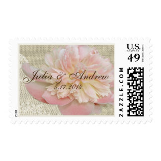 Vintage Peony and Lace Stamp