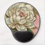 Vintage Peony Flower Gel Mouse Pad