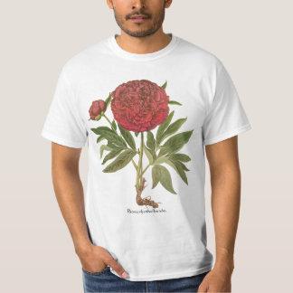 Vintage Peony Peonies Flowers by Basilius Besler T-Shirt