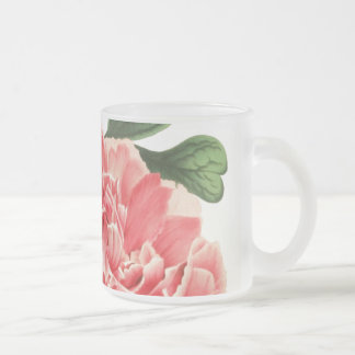 Vintage Peony / Retro Pfingstrose Frosted Glass Coffee Mug