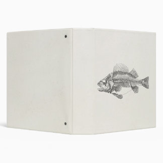 Vintage Perch Fish Skeleton - Fishes Template Binder
