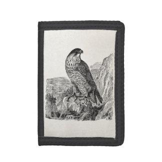 Vintage Peregrine Falcon Personalized Retro Birds Trifold Wallets