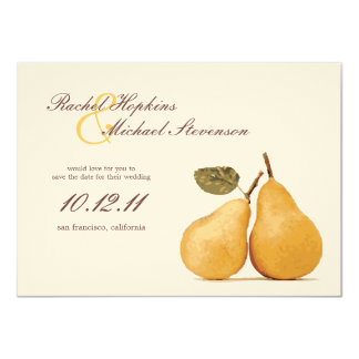 """Vintage Perfect Pair Wedding Save the Date Card 4.5"""" X 6.25"""" Invitation Card"""