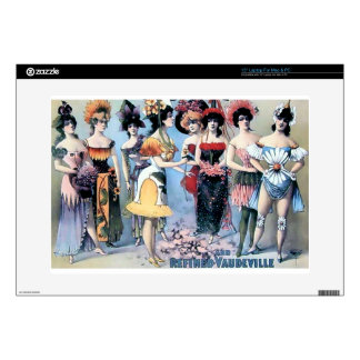 """Vintage Performers Women Costumes Decals For 15"""" Laptops"""