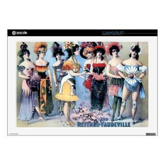 Vintage Performers Women Costumes Laptop Skin