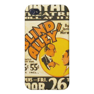 """Vintage Performing Arts """"Blind Alley"""" WPA Poster Cover For iPhone 4"""
