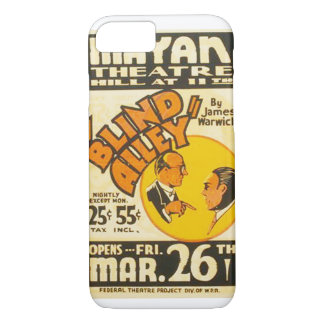 """Vintage Performing Arts """"Blind Alley"""" WPA Poster iPhone 7 Case"""