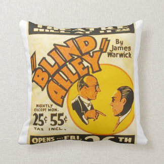 "Vintage Performing Arts ""Blind Alley"" WPA Poster Throw Pillow"
