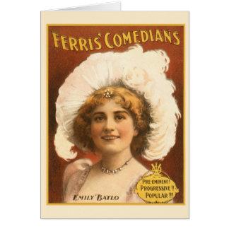 Vintage Performing Arts Poster Ferris Comedians Card