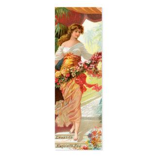Vintage Perfume Ads Bookmark Mini Business Card