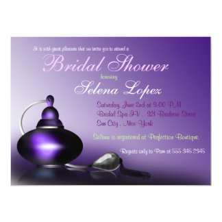 Vintage Perfume Bottle Bridal Shower Invitations