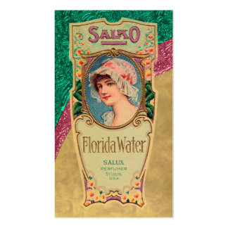 Vintage Perfume Poster Business Card