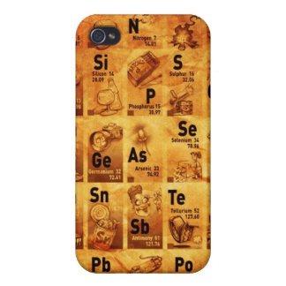 Vintage Periodic Table for iPhone iPhone 4/4S Cases