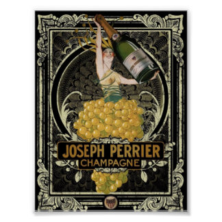 Vintage Perrier Champagne Poster