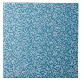 Vintage Persian Blue Lavender Purple Retro Floral Tile