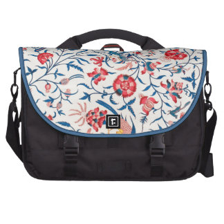 Vintage Persian Horror Vacui Floral Birds Pattern Laptop Commuter Bag