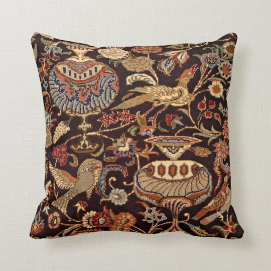Vintage Persian Oriental Turkish Carpet Pattern Throw Pillow Zazzle