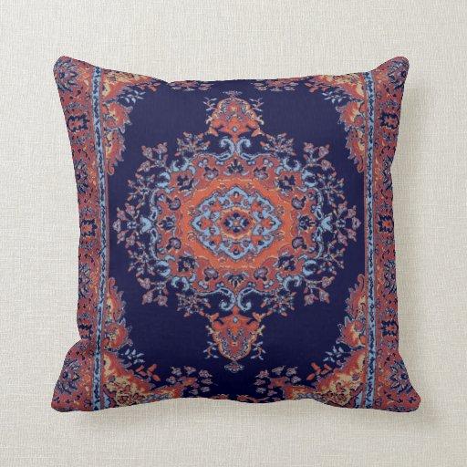 Persian Design Throw Pillows : Vintage persian pattern throw pillow Zazzle