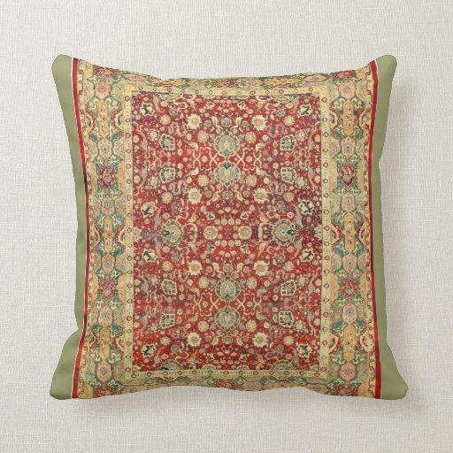 Vintage persian pattern throw pillow Zazzle