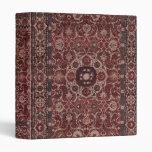 Vintage Persian Tapestry 3 Ring Binder