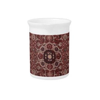 Vintage Persian Tapestry Beverage Pitcher