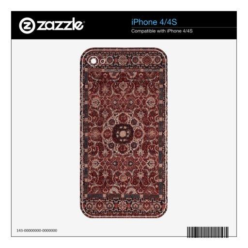 Vintage Persian Tapestry Decal For The iPhone 4