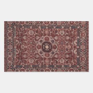 Vintage Persian Tapestry Rectangular Sticker