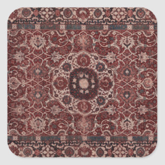 Vintage Persian Tapestry Square Sticker