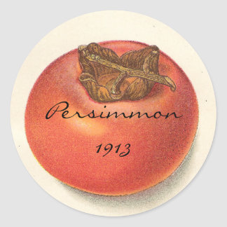 Vintage Persimmon Stickers