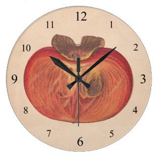 Vintage Persimmon Wall Clock