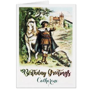 Vintage Personalised Birthday Card