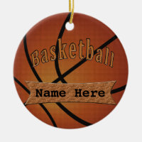 Vintage Personalized Basketball Ornaments