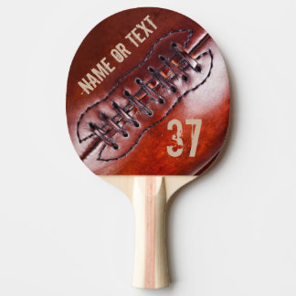 Vintage Personalized Football Ping Pong Paddle